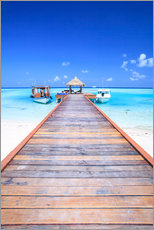 Wall Stickers  Pier into the ocean, Maldives - Matteo Colombo