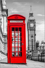 Gallery print  London phone booth - euregiophoto