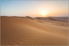 Wall sticker  Sunrise over sand dunes, empty quarter desert, Abu Dhabi, Emirates - Matteo Colombo