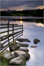 Wall sticker  Loughrigg Tarn in England - Jeremy Lightfoot