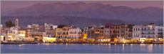 Wall sticker  Harbor at dusk, Chania, Crete - John Miller