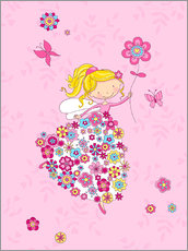 Gallery print  Flower Princess - Fluffy Feelings