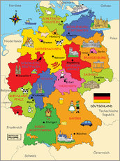 Gallery print  German states for children (German) - Fluffy Feelings