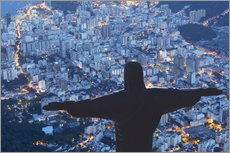 Wall sticker  Statue of Christ the Redeemer, Corcovado, Rio de Janeiro, Brazil, South America - Angelo Cavalli
