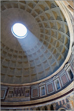 Wall sticker  A shaft of light through the dome of the Pantheon, UNESCO World Heritage Site, Rome, Lazio, Italy, E - Martin Child