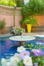 Wall sticker  Fountain and flowers in the Majorelle Gardens (Gardens of Yves Saint-Laurent), Marrakech, Morocco, N - Matthew Williams-Ellis