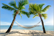 Wall sticker  Hammock at the beach in the south pacific - Jan Christopher Becke