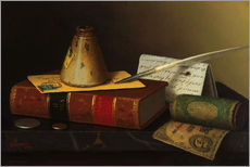 Gallery print  Still life with a writing table - William Michael Harnett