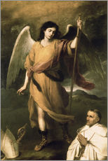 Wall sticker  Archangel Raphael with Bishop Domonte - Bartolome Esteban Murillo