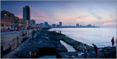 Gallery print  The Malecon, Havana, Cuba, West Indies, Central America