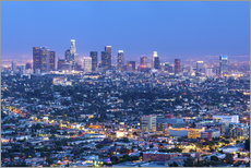Wall Sticker  Cityscape of the Los Angeles skyline at dusk, Los Angeles, California, United States of America, Nor - Chris Hepburn