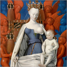 Wall sticker  Virgin and Child Surrounded by Angels - Jean Fouquet