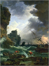 Wall sticker  The storm - Claude Joseph Vernet