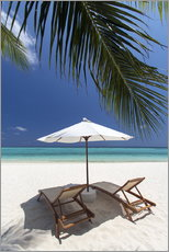 Wall sticker  Lounge chairs on tropical beach - Sakis Papadopoulos