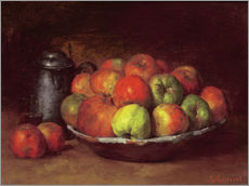Gallery print  Still Life with Apples and a Pomegranate - Gustave Courbet