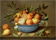 Wall sticker  Still Life with Oranges and Lemons - Jacob van Hulsdonck