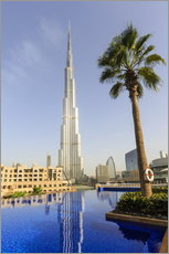 Gallery Print  Pool and Burj Khalifa - Amanda Hall