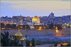 Gallery print  Jerusalem with Dome of the Rock - Neil Farrin