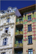 Wall sticker  Majolica House, Vienna - Neil Farrin