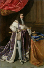 Gallery print  Louis XIV - French School