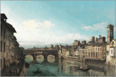 Premium poster The Arno with the Ponte Vecchio