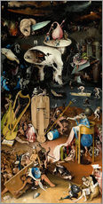 Gallery print  Garden of earthly delights, Hell - Hieronymus Bosch