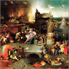 Gallery print  Saint Anthony in distress - Hieronymus Bosch