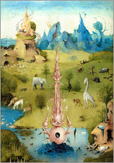 Wall sticker  Garden of Earthly Delights, the paradise (detail) - Hieronymus Bosch