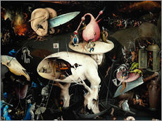 Gallery print  Garden of Earthly Delights, Hell (detail) - Hieronymus Bosch