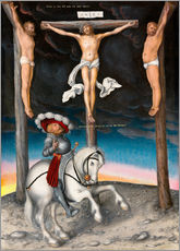Gallery print  The Crucifixion with the converted Captain - Lucas Cranach d.Ä.