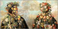 Gallery print  A anthropomorphosic profile of a man and a woman - Giuseppe Arcimboldo