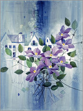 Gallery print  View with clematis - Franz Heigl