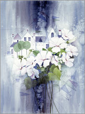 Wall sticker View with sweet peas