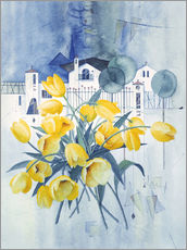 Gallery print  View with tulips - Franz Heigl
