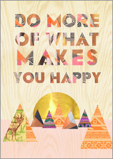 Gallery print  Do more of what makes you happy - GreenNest