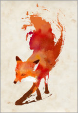 Premium poster  Creeping fox - Robert Farkas