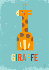 Wall Stickers  Baby Giraffe for the nursery - Petit Griffin
