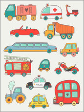Gallery print  So many cars - Petit Griffin