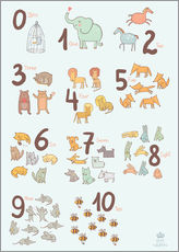 Wall sticker  Number of animals - Petit Griffin