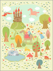Wall sticker  My favorite fairy tales - Petit Griffin