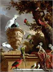 Wall sticker  The Menagerie - Melchior de Hondecoeter