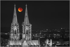 Wall sticker Blood Red Moon Cologne Cathedral