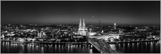Gallery print  Panorama of the Cologne skyline, Germany - rclassen