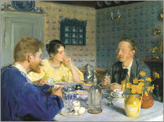 Gallery print  A luncheon. The artist, his wife and the writer Otto Benzon - Peder Severin Krøyer