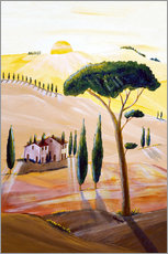 Gallery print  Tuscany in the morning - Christine Huwer