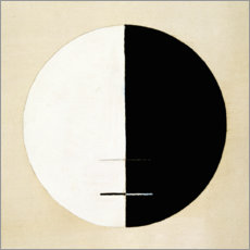 Aluminium print  No. 3a. Buddha's Standpoint in Worldly Life - Hilma af Klint