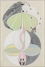 Wall sticker  Tree of Knowledge, No. 5 - Hilma af Klint