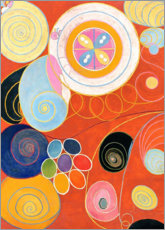 Aluminium print  The Ten Largest, No. 3, Youth - Hilma af Klint