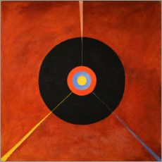 Wood print  The Swan, No. 18 - Hilma af Klint