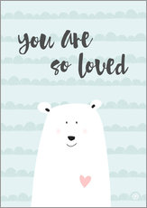 Wall Sticker  You are so loved - Mint - m.belle